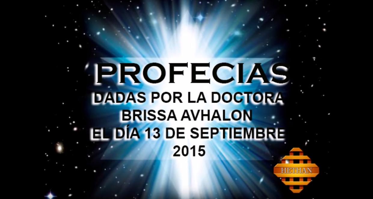 profecías dadas en conferencia 13 de septiembre