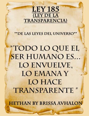 ley 185 de la transparencia