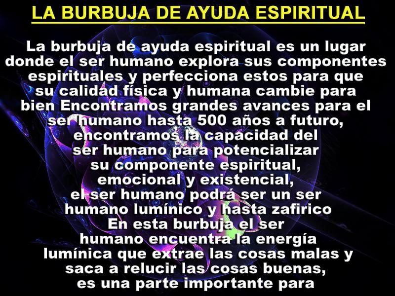 burbuja de ayuda espiritual